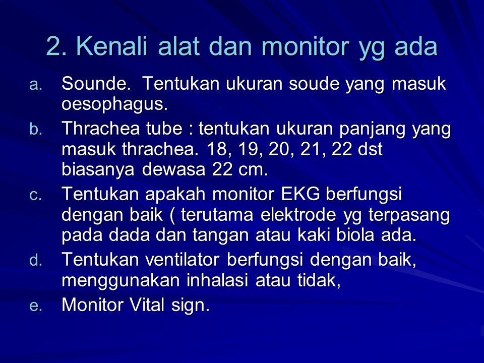 2. Kenali alat dan monitor yg ada