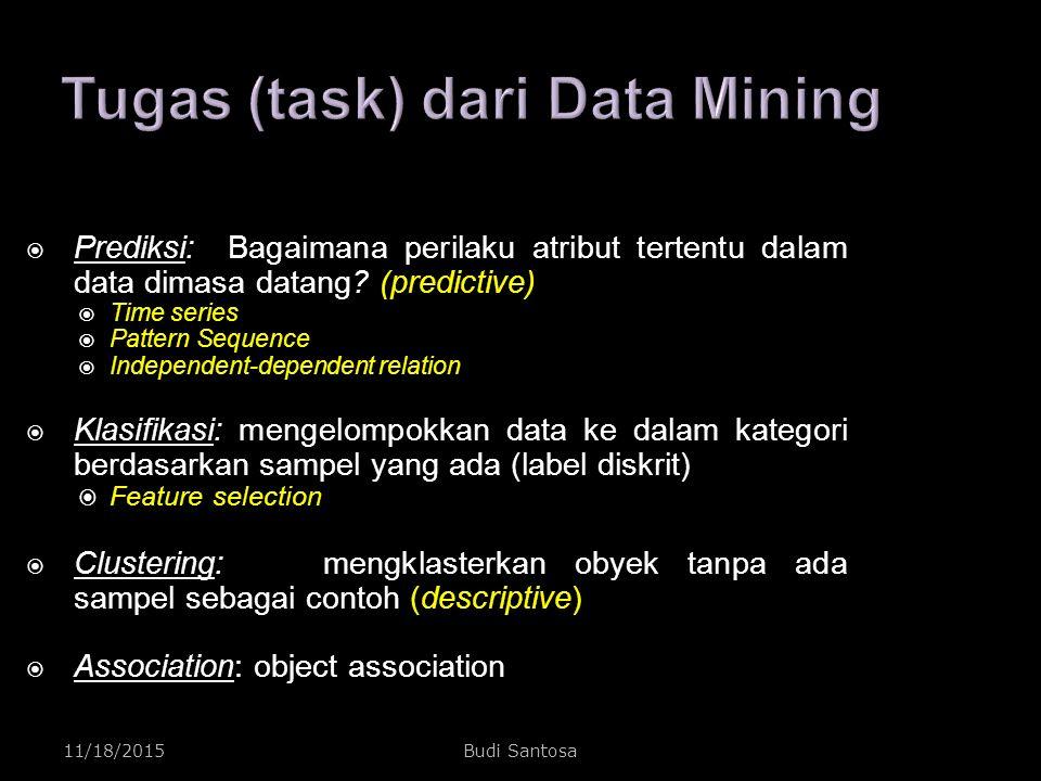 Tugas (task) dari Data Mining