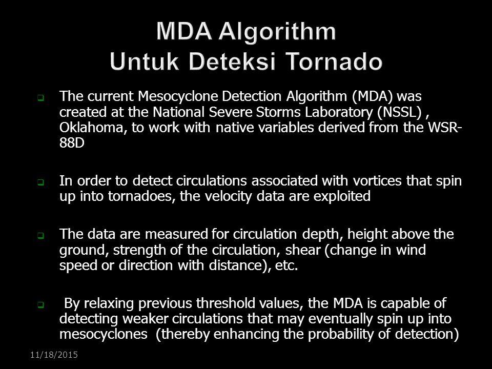 MDA Algorithm Untuk Deteksi Tornado