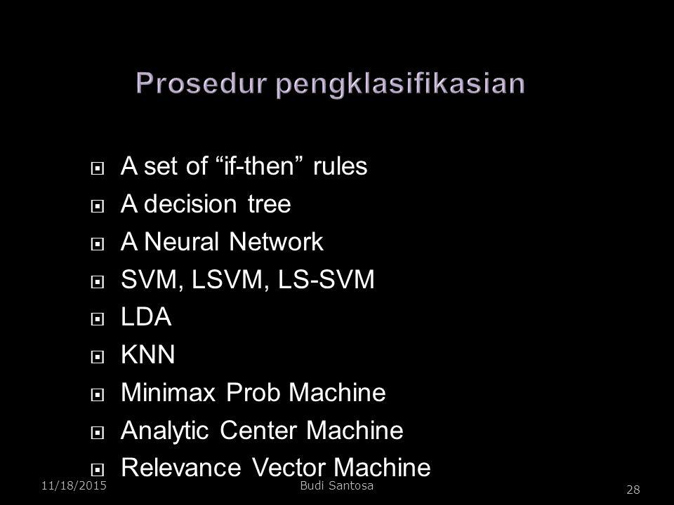 Prosedur pengklasifikasian