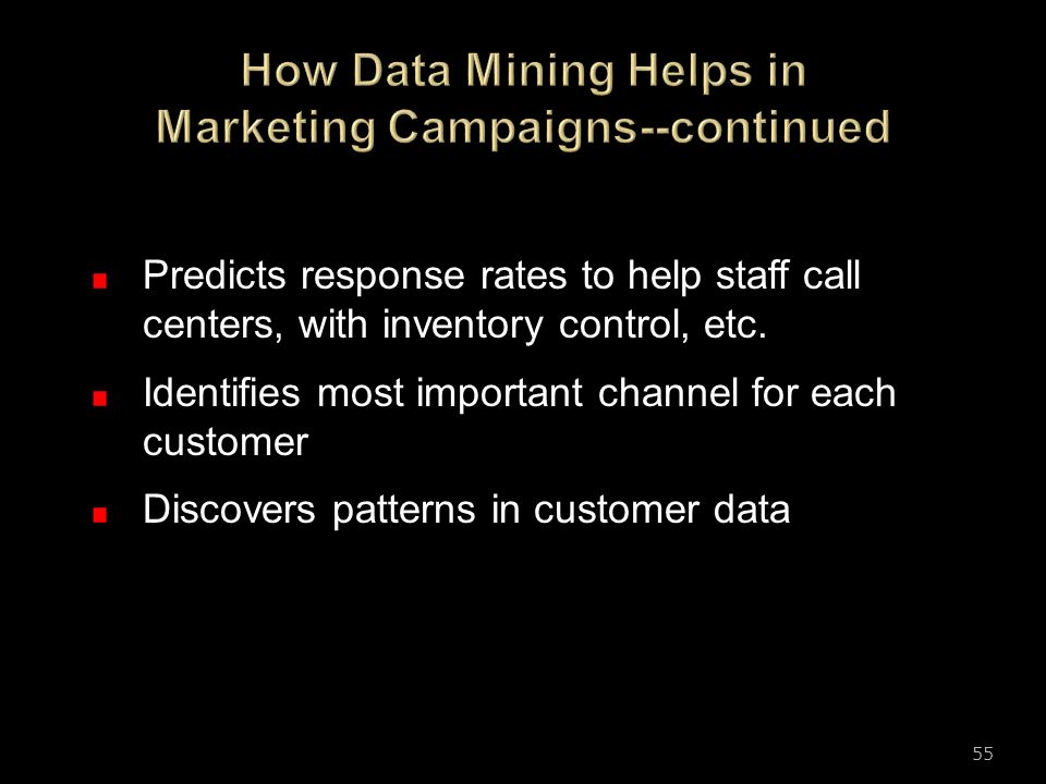 How Data Mining Helps in Marketing Campaigns--continued