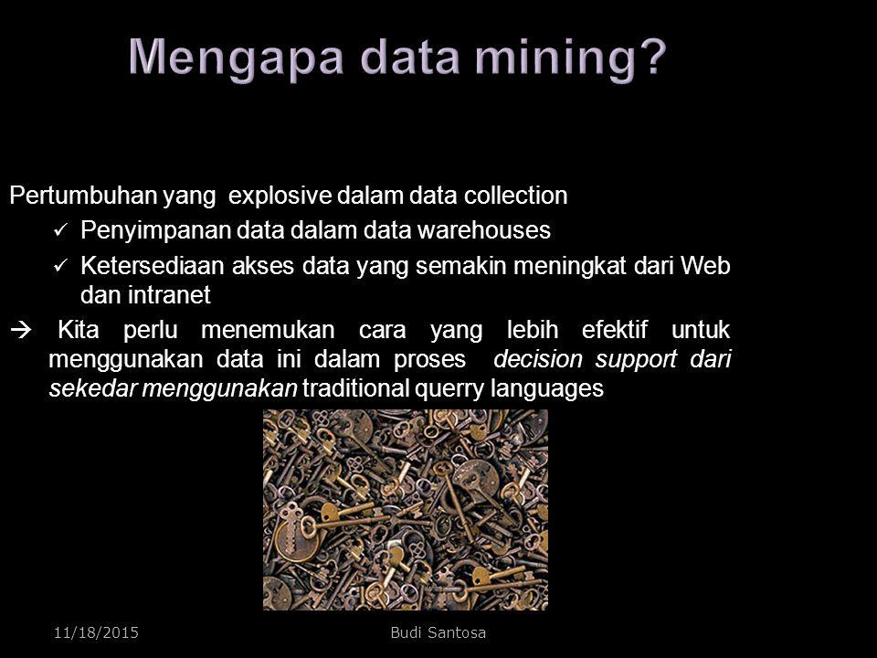 Mengapa data mining Pertumbuhan yang explosive dalam data collection