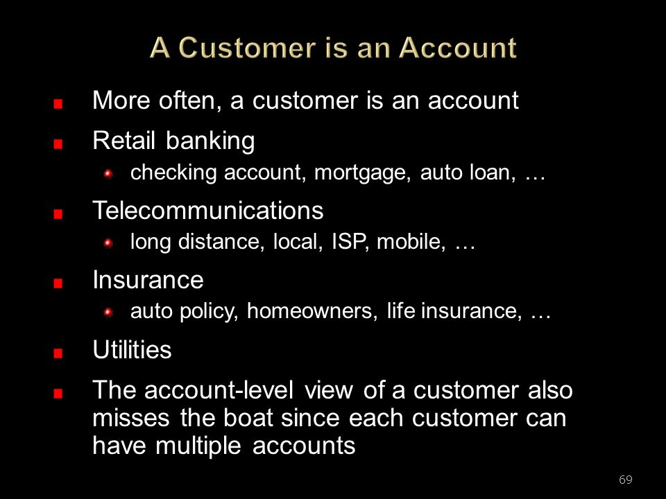 A Customer is an Account