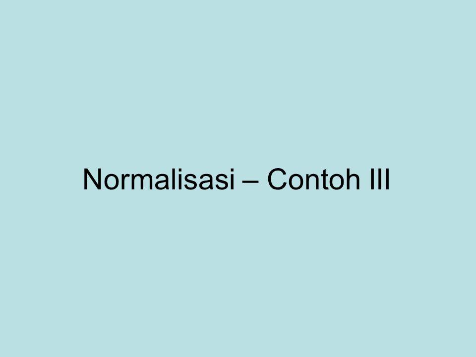 Normalisasi – Contoh III