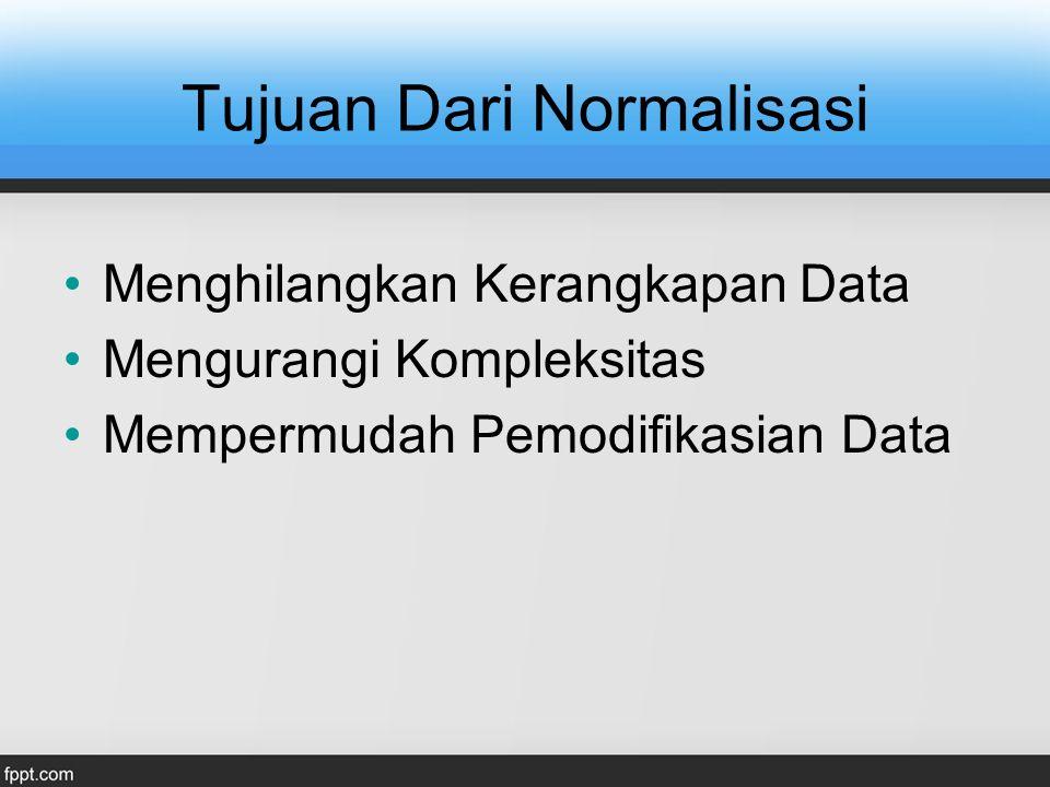 Tujuan Dari Normalisasi