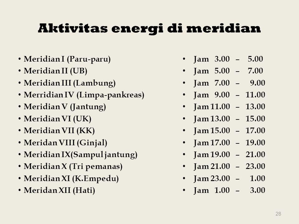 Aktivitas energi di meridian