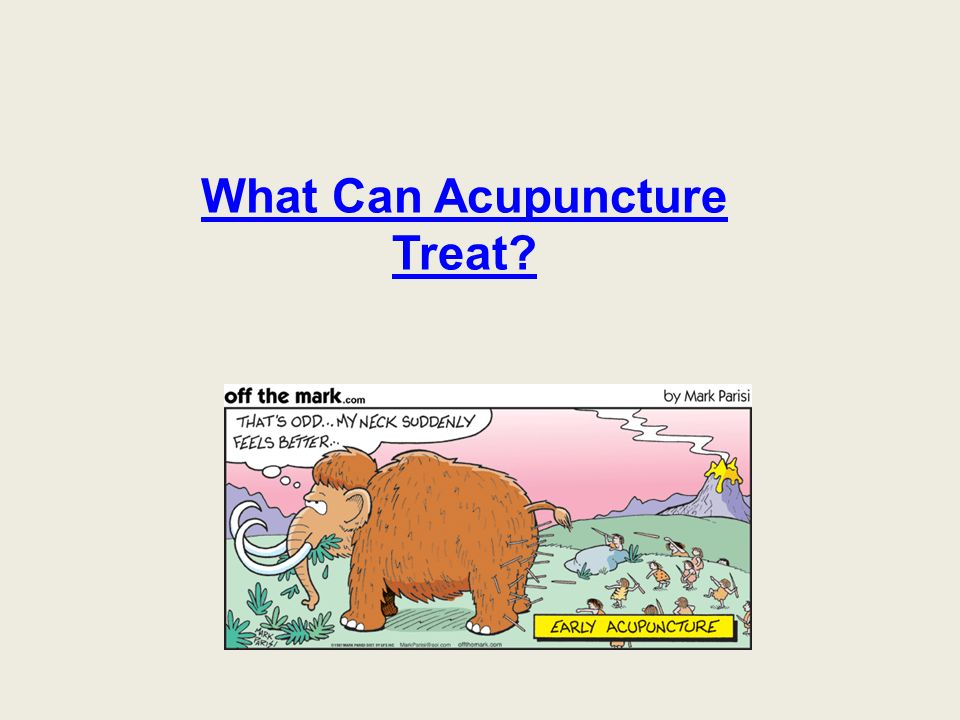What Can Acupuncture Treat