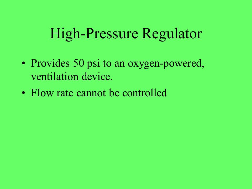 High-Pressure Regulator
