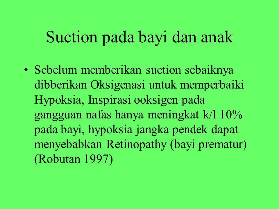 Suction pada bayi dan anak