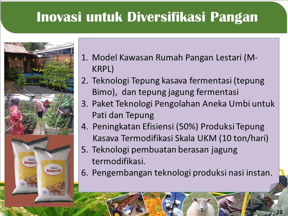 Inovasi untuk Diversifikasi Pangan