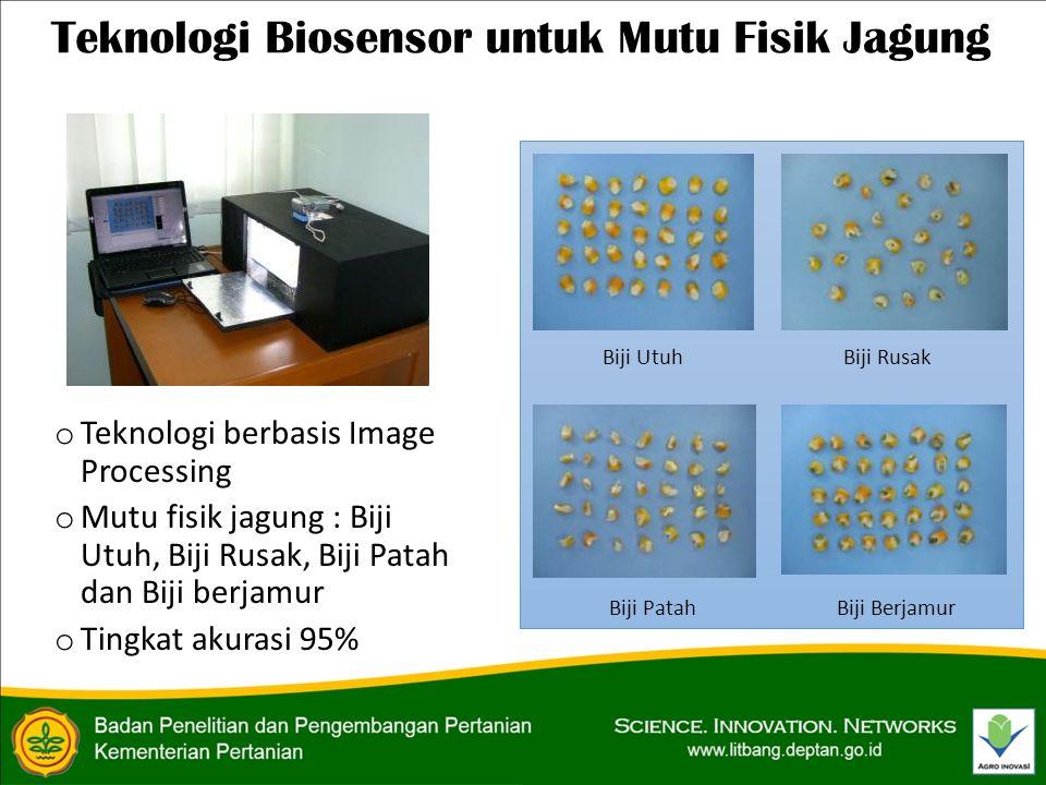 Teknologi Biosensor untuk Mutu Fisik Jagung