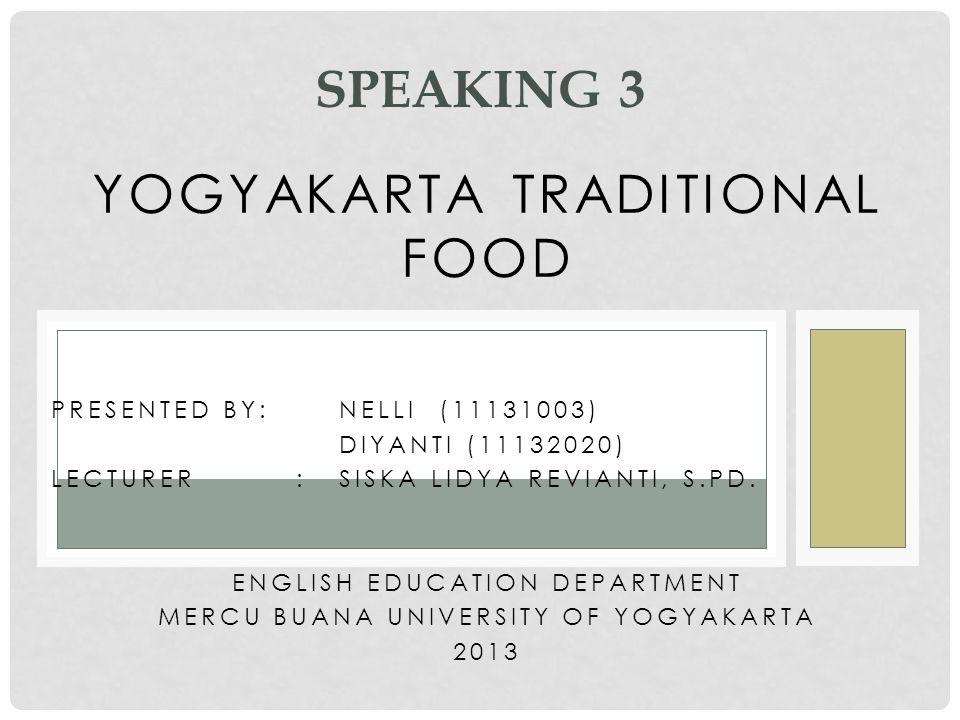 Yogyakarta traditional food