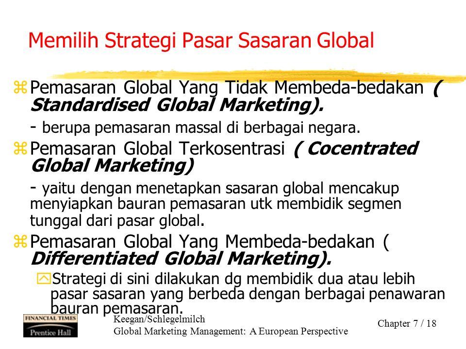 Memilih Strategi Pasar Sasaran Global