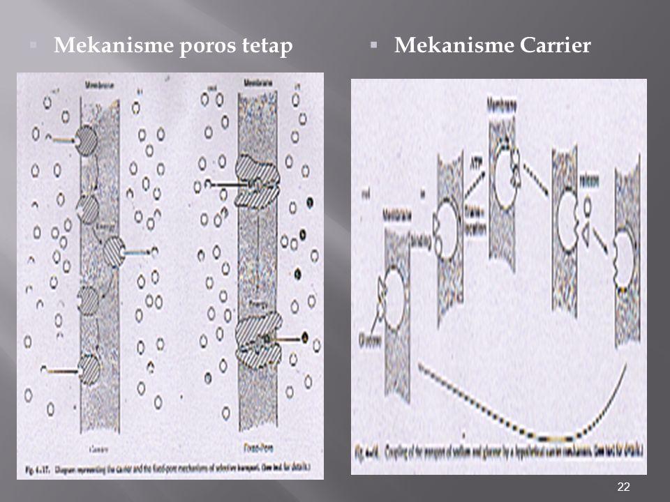 Mekanisme poros tetap Mekanisme Carrier
