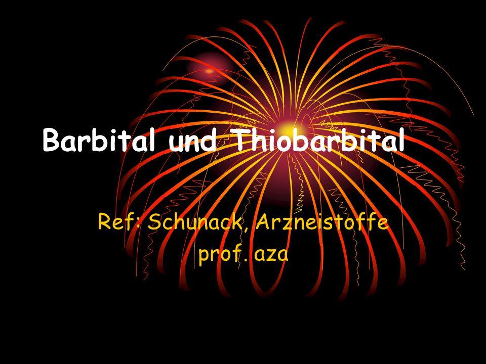 Barbital und Thiobarbital