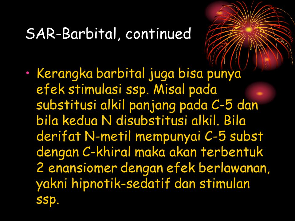 SAR-Barbital, continued