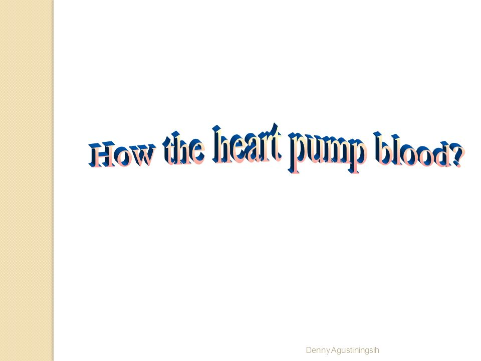 How the heart pump blood