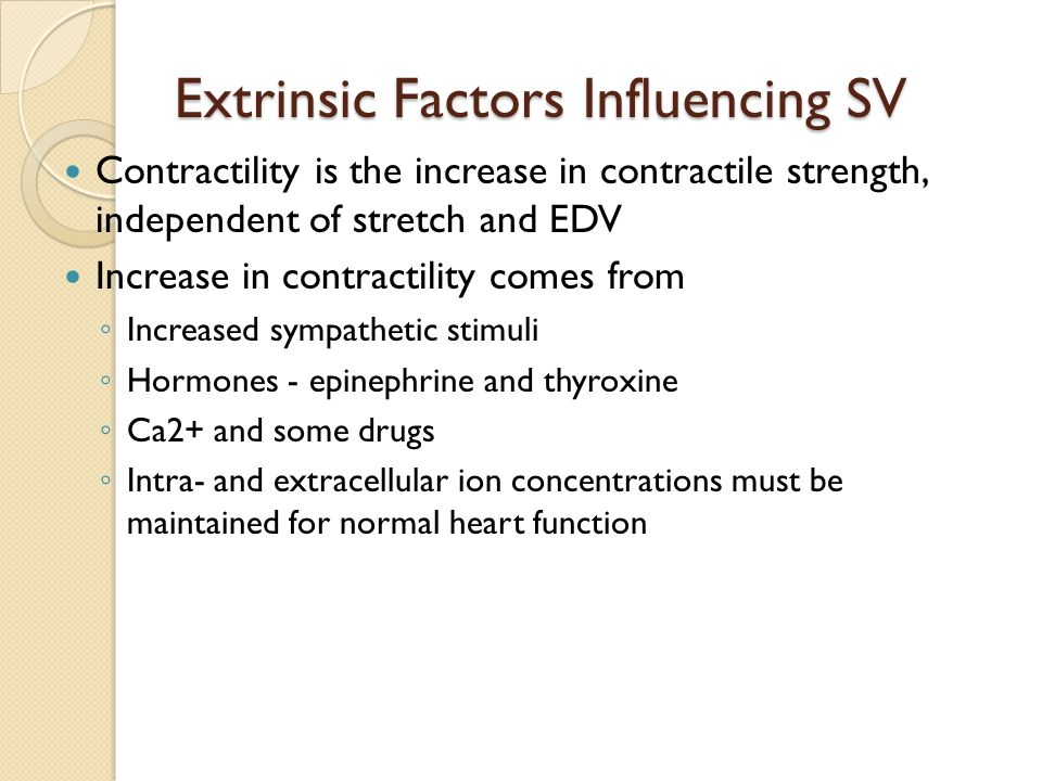 Extrinsic Factors Influencing SV
