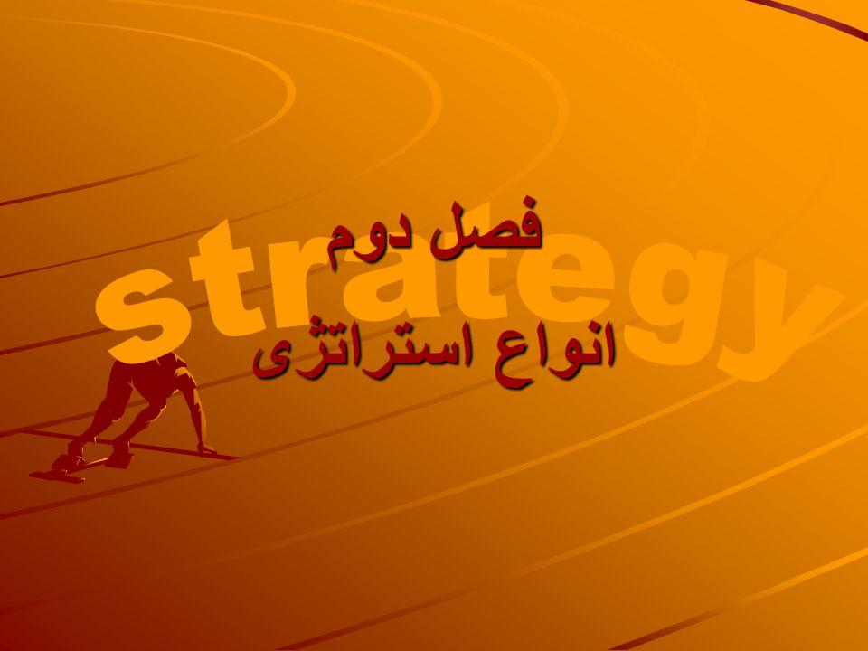 فصل دوم strategy انواع استراتژی
