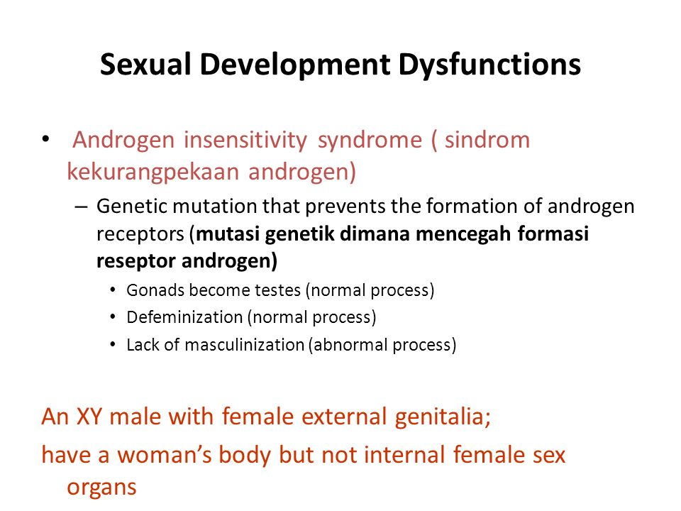 Sexual Development Dysfunctions