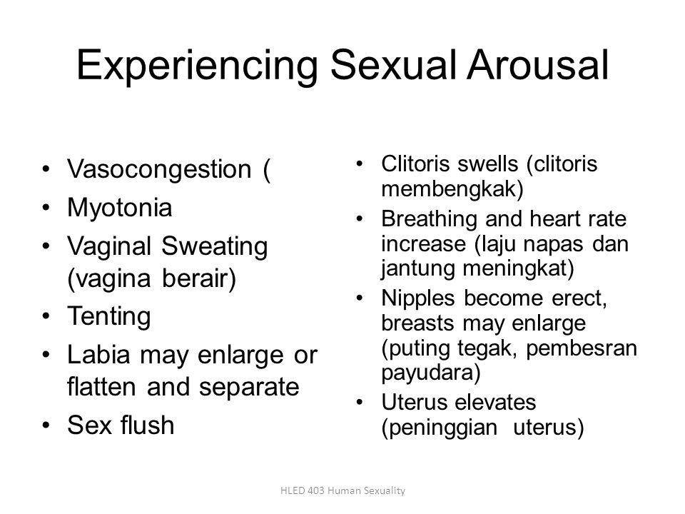 Experiencing Sexual Arousal