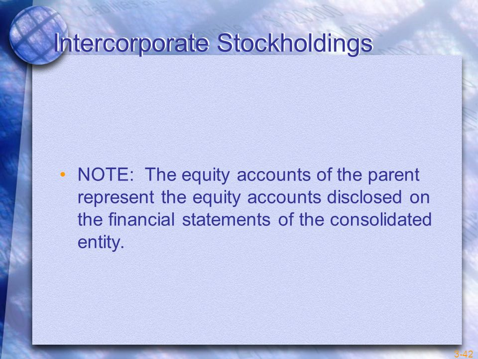 Intercorporate Stockholdings