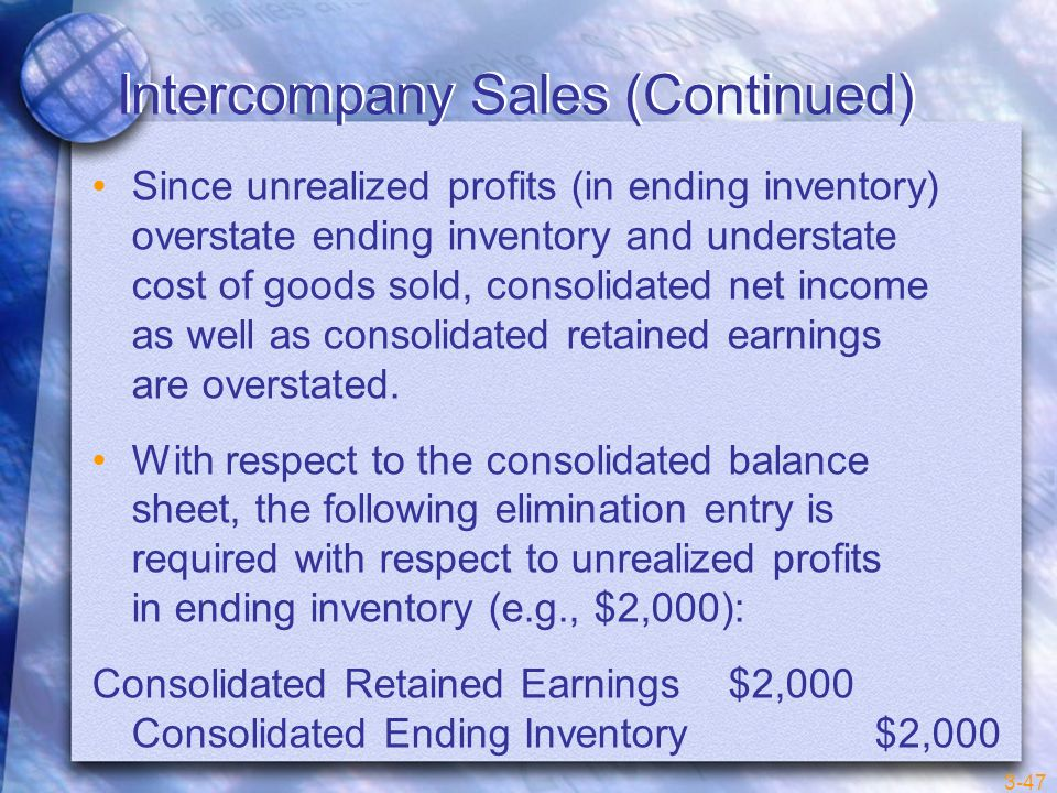 Intercompany Sales (Continued)