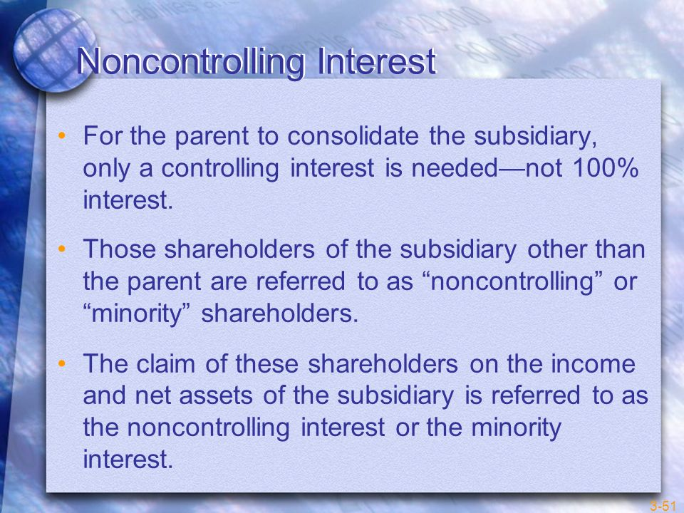 Noncontrolling Interest