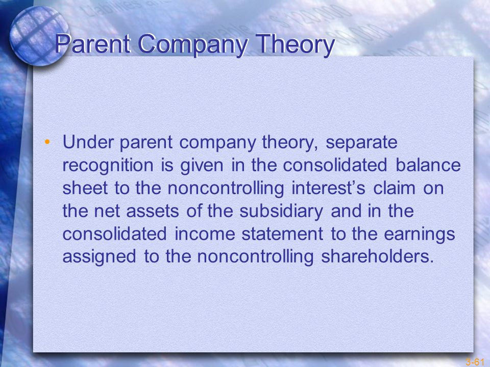 Parent Company Theory