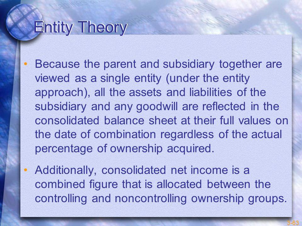 Entity Theory
