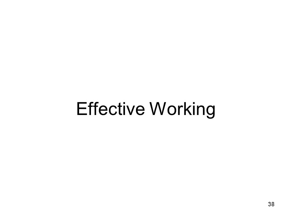 Effective Working