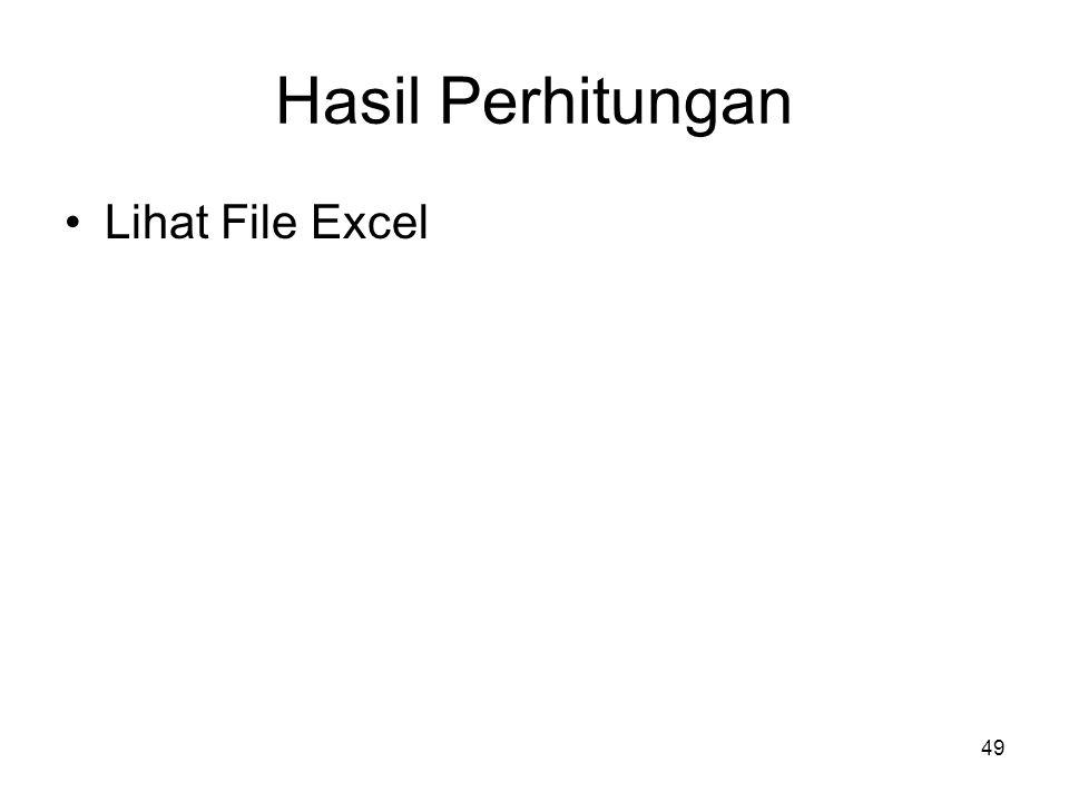 Hasil Perhitungan Lihat File Excel