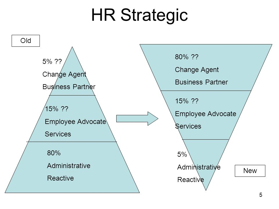 HR Strategic Old 80% 5% Change Agent Change Agent