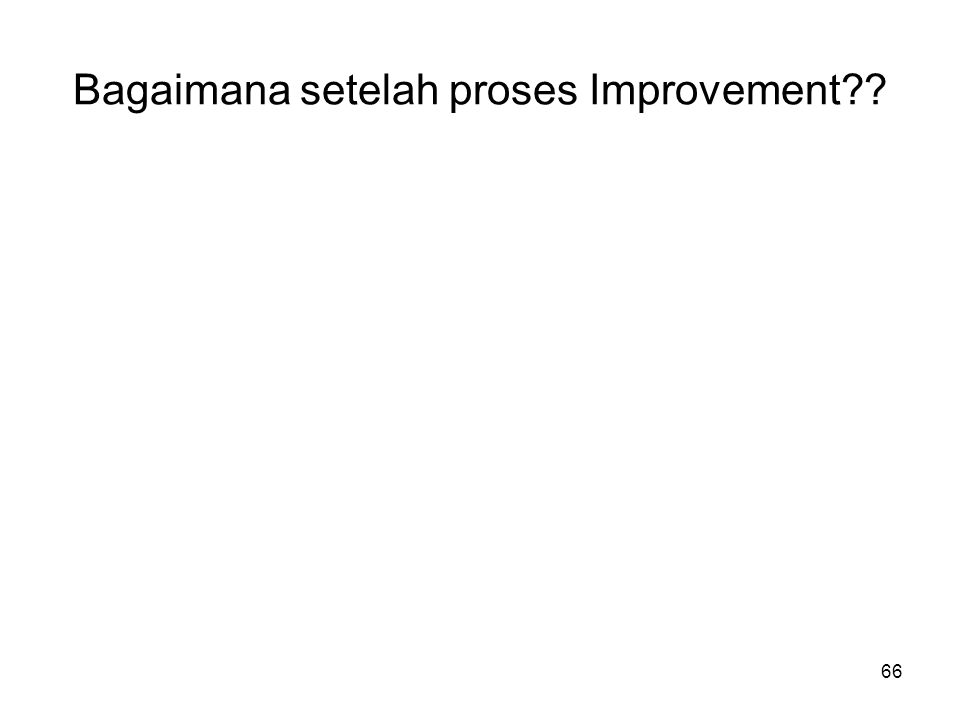 Bagaimana setelah proses Improvement