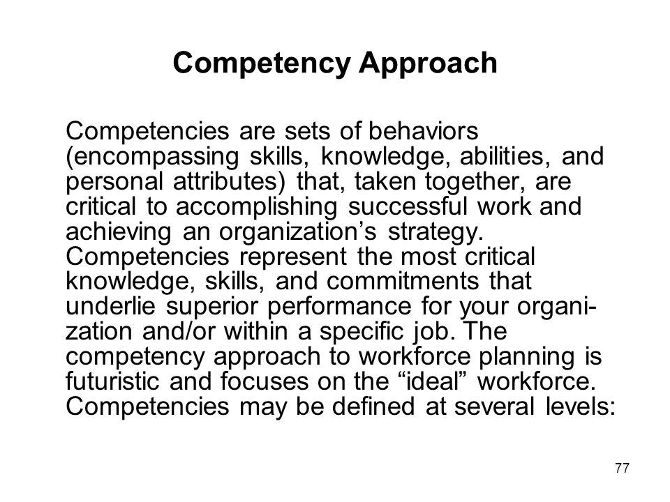 Competency Approach