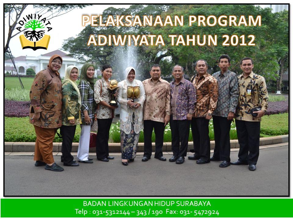 PELAKSANAAN PROGRAM ADIWIYATA TAHUN 2012