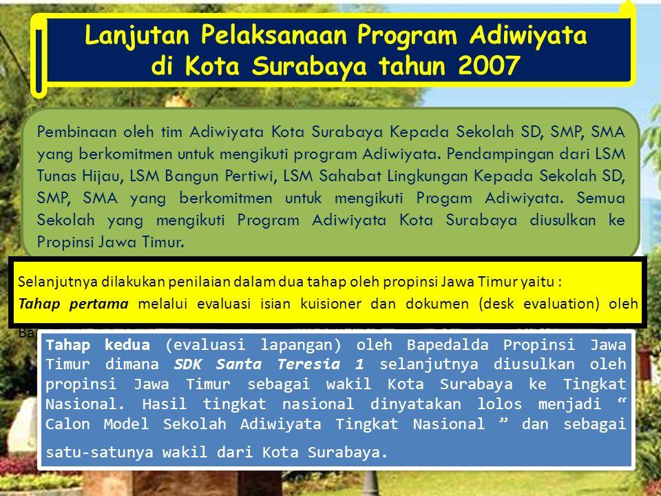 Lanjutan Pelaksanaan Program Adiwiyata