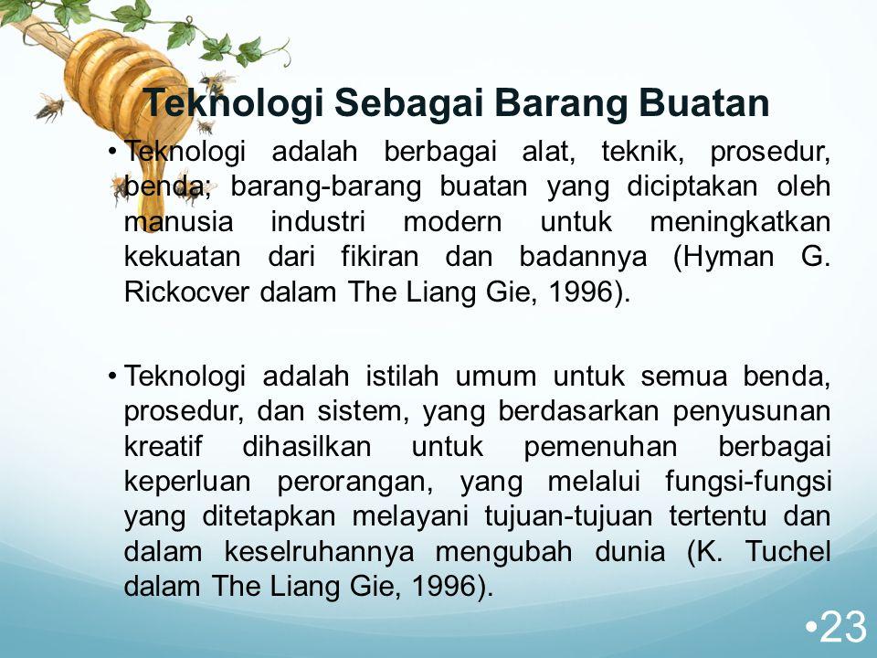 Teknologi Sebagai Barang Buatan