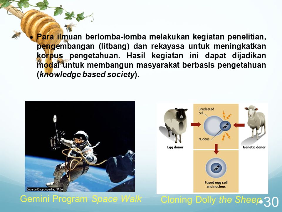 Gemini Program Space Walk Cloning Dolly the Sheep