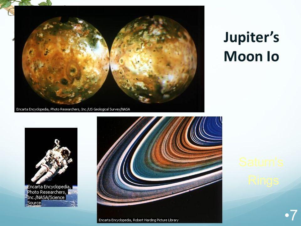 Jupiter's Moon Io Saturn s Rings