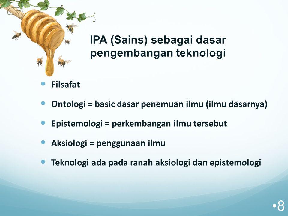 IPA (Sains) sebagai dasar pengembangan teknologi
