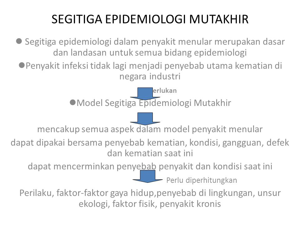 SEGITIGA EPIDEMIOLOGI MUTAKHIR