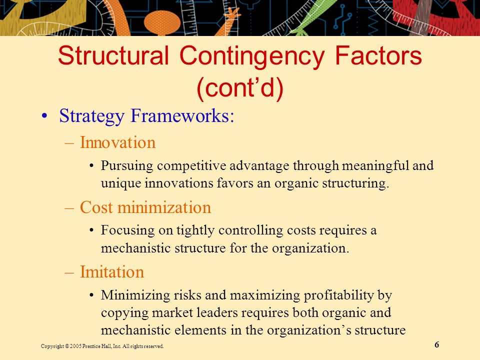Structural Contingency Factors (cont'd)