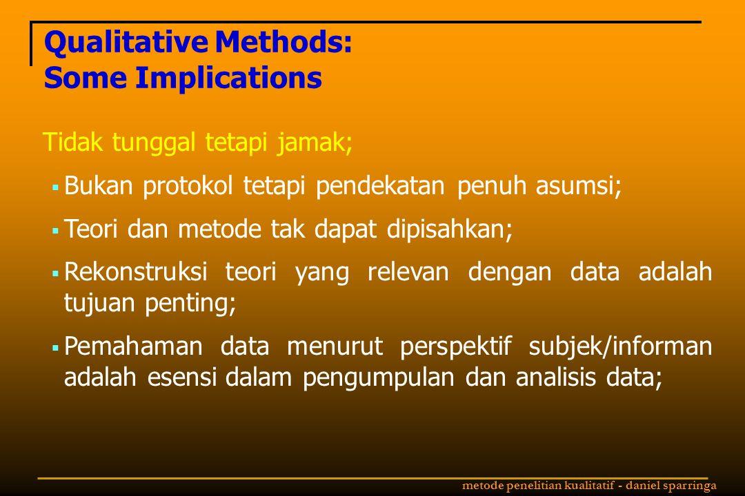 Qualitative Methods: Some Implications