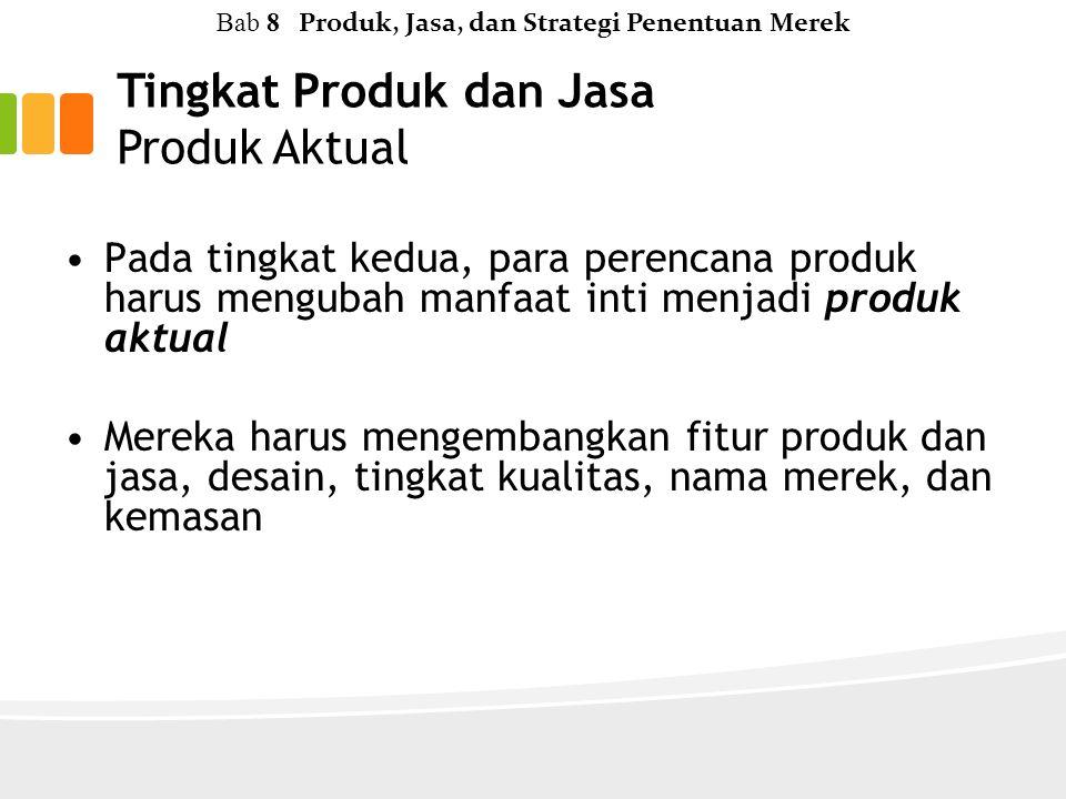 Tingkat Produk dan Jasa Produk Aktual
