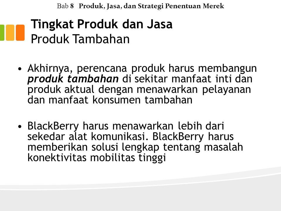 Tingkat Produk dan Jasa Produk Tambahan