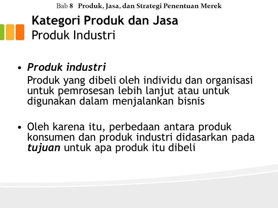 Kategori Produk dan Jasa Produk Industri