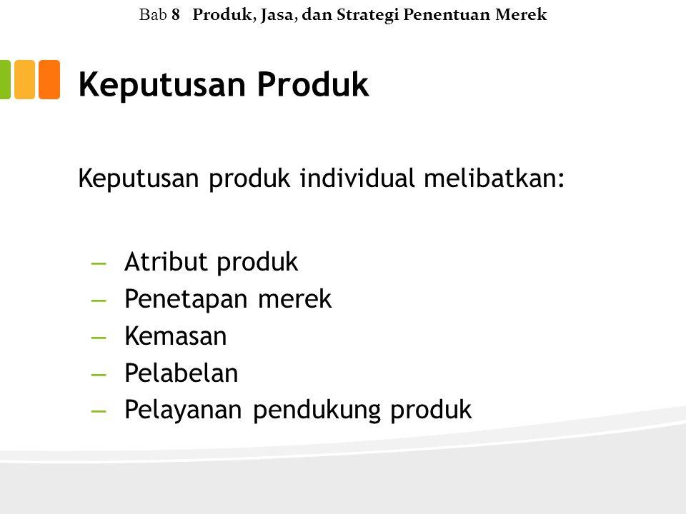 Bab 8 Produk, Jasa, dan Strategi Penentuan Merek