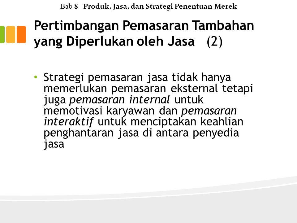 Pertimbangan Pemasaran Tambahan yang Diperlukan oleh Jasa (2)