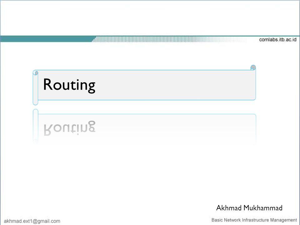 Routing Akhmad Mukhammad